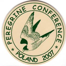 "Sticker - ""PEREGRINE CONFERENCE - POLAND 2007"""