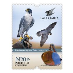 Falconry on Portuguese stamps - set of 4 stamps