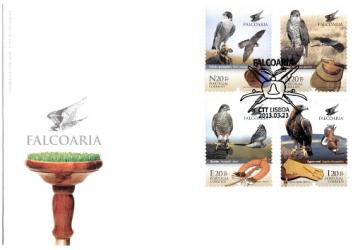 Falconry - First Day Cover with Souvenir-Sheet